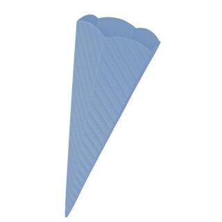 Schultütenrohling aus 3D Wellpappe hellblau, h: 68 cm