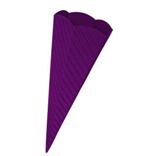 Schultütenrohling aus 3D Wellpappe lila, h: 68 cm