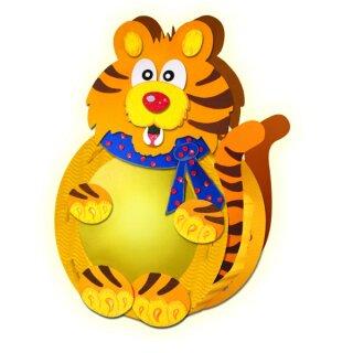 Bastelset Laterne Tiger ca. 30 x 25 cm, für 1 Laterne