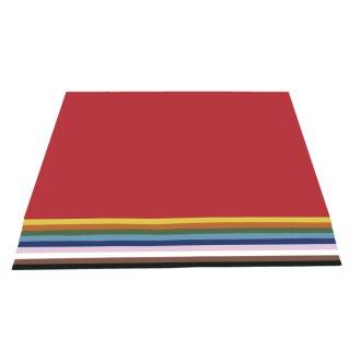 Tonkarton, 50 x 70 cm, 100 Bogen in 10 Farben sortiert