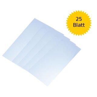 Laternenzuschnitt Transparentpapier: weiß 25 Blatt 15,5 x 37 cm