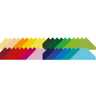 Bastelfilz 20 x 30 cm 40 Blatt in 20 Farben sort.