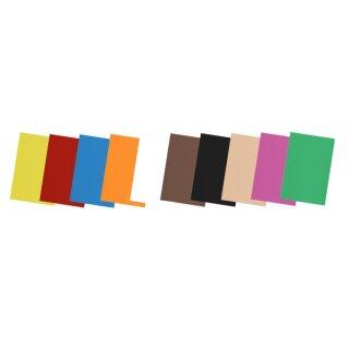 Moosgummi 20 Bögen ca. 30 x 40 cm in 10 Farben sort.