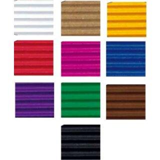 Bastelwellpappe, 49,5 x 70 cm, 50 Bogen in 10 Farben sort.