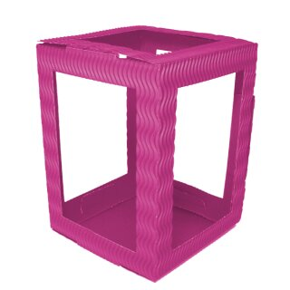 Laterne 3D Wellpappe pink, 13,5 x 13,5 cm