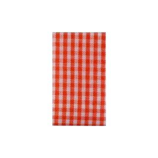 Karoband rot/weiß 10 m Rolle, 10 mm breit