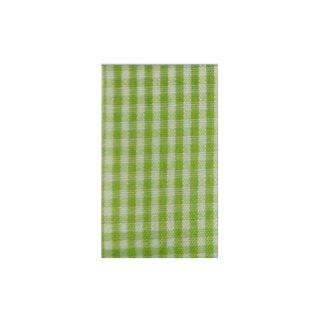 Karoband hellgrün/weiß 10 m Rolle, 10 mm breit