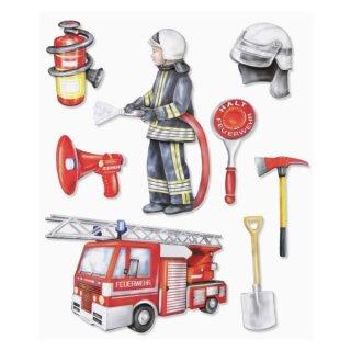 """3D Sticker XXL """"Feuerwehr"""""""