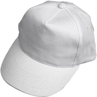 Baseball Cap Schirmkappe weiß 1 Stück, D: 54 cm