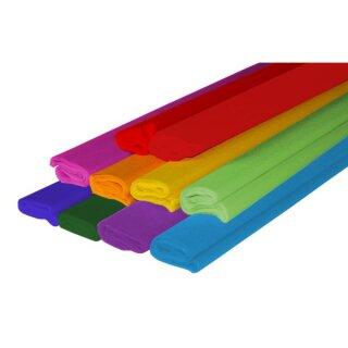 Krepppapier, 10 Rollen in 10 Farben sort. 50 x 250 cm