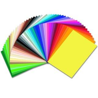 Tonzeichenpapier 50 Bogen in 50 Farben sort. 50 x 70 cm 130 g/qm