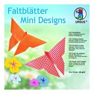 "Faltblätter ""Mini Designs"" 15 x 15 cm, 120 Blatt"