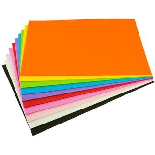 Moosgummi 20 x 30 cm 10 Bögen in 10 Farben sortiert