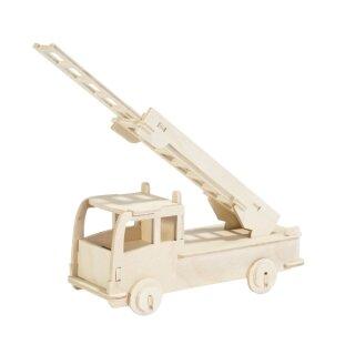 Holzbausatz Feuerwehrauto 23 Teile 17,5 x 31 cm