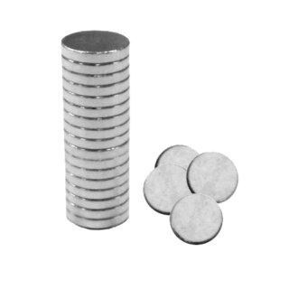Mini Magnete 20 Stück D: 6 mm 1 mm stark