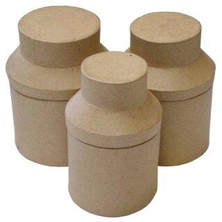 Pappmaché Box Tee 3er-Set 12 cm hoch