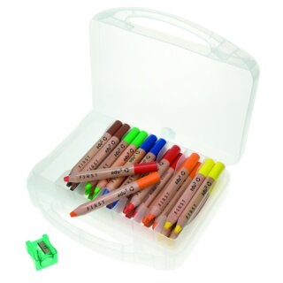 edu3 Farbstifte Buntstifte 36 Stück in 6 Farben sort. inkl. 3 Spitzer