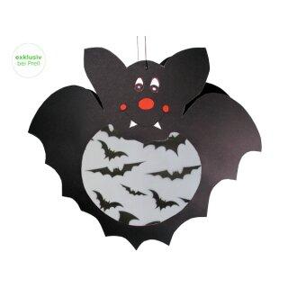 Laternen Bastelset Fledermaus, 5 Stück