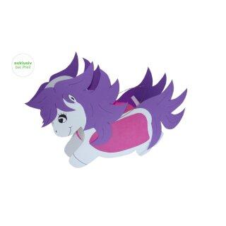 Laternen Bastelset Pony Lea, 3 Stück