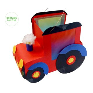 Laternen Bastelset Traktor, 3 Stück