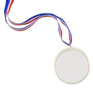 Medaille zum Selbstgestalten 1 Stück D: 6 cm, Band 40 cm lang von Eduplay