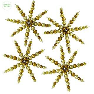 Bastelset Komplettset für 20 Perlensterne gold D: 10 cm