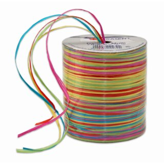 Raffia-Multi-Bast, Neonfarben 50 m Rolle