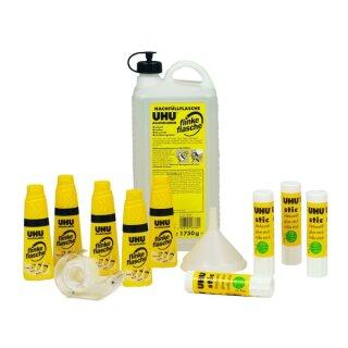 UHU Paket flinke Flasche Alleskleber mit Lösungsmittel