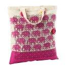 Einkaufstasche 38 x 42 cm 10 Stück Baumwolle natur