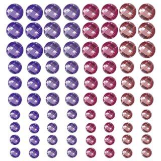 Schmuckstein Sticker Bordüren pink